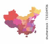china and taiwan map of circle... | Shutterstock .eps vector #713104936