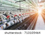 rolls of industrial cotton... | Shutterstock . vector #713105464