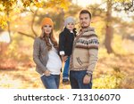 young happy family have fun and ... | Shutterstock . vector #713106070