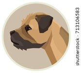 dog collection border terrier... | Shutterstock .eps vector #713106583