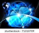 blue technology background | Shutterstock . vector #71310709