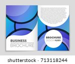 abstract vector layout... | Shutterstock .eps vector #713118244
