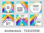 abstract vector layout... | Shutterstock .eps vector #713123530