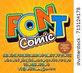sunny vector alphabet set. font ...   Shutterstock .eps vector #713124178