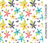 simple seamless pattern with... | Shutterstock .eps vector #713124628