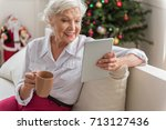 Positive Old Woman Is Relaxing...