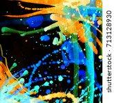 abstract watercolor texture.... | Shutterstock . vector #713128930