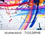 abstract watercolor texture.... | Shutterstock . vector #713128948