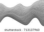 optical art abstract background ... | Shutterstock .eps vector #713137960