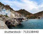 the village of firopotamos on... | Shutterstock . vector #713138440