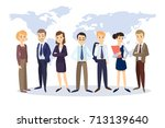 successful business team with...   Shutterstock .eps vector #713139640