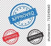 approved rubber stamp grunge | Shutterstock .eps vector #713140660