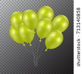 3d realistic colorful balloons. ...   Shutterstock .eps vector #713140858