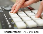 hip hop beat maker produce new... | Shutterstock . vector #713141128
