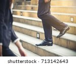 Close Up Legs Of Businessman...
