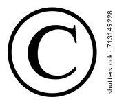 copyright symbol in flat... | Shutterstock .eps vector #713149228