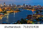 grand palace and wat phra keaw...   Shutterstock . vector #713151928
