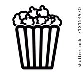 isolated cinema popcorn on a... | Shutterstock .eps vector #713154970