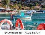 Boats Near Port  In Agios...