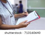 clinics  occupations  people... | Shutterstock . vector #713160640