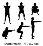 black vector silhouettes of...