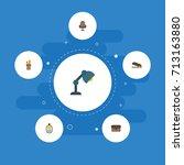 flat icons identification ... | Shutterstock .eps vector #713163880