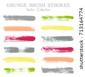 watercolor  ink or paint brush... | Shutterstock .eps vector #713164774