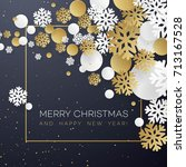 christmas background with... | Shutterstock .eps vector #713167528