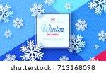 christmas background  white...   Shutterstock .eps vector #713168098