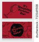 two posters for beaujolais... | Shutterstock .eps vector #713169508