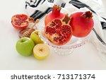 rosh hashanah  jewish new year... | Shutterstock . vector #713171374