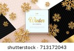 christmas background with gold... | Shutterstock .eps vector #713172043
