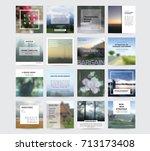 editable simple corporate posts ... | Shutterstock .eps vector #713173408