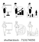 set of illustrations of a... | Shutterstock . vector #713174050