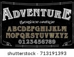 font serif typeface vector...   Shutterstock .eps vector #713191393