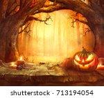 Halloween Pumpkin. Scary...