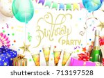 light birthday party poster