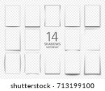 rectangular shadow box frames... | Shutterstock .eps vector #713199100