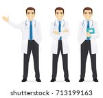 doctor set | Shutterstock .eps vector #713199163