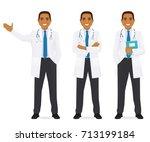 doctor set black   Shutterstock .eps vector #713199184