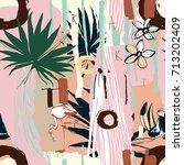vector illustration tropical... | Shutterstock .eps vector #713202409