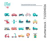transportation and vehicles ...   Shutterstock .eps vector #713204026