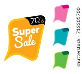 set of super sale chat bubble... | Shutterstock .eps vector #713205700