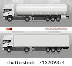 vector trucks on transparent... | Shutterstock .eps vector #713209354