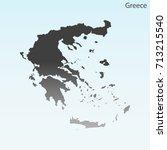 map of greece  | Shutterstock .eps vector #713215540
