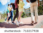 cropped close up low angle...   Shutterstock . vector #713217928