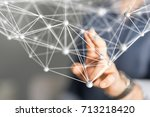 group network | Shutterstock . vector #713218420