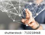 group network | Shutterstock . vector #713218468