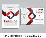 flyers report brochure cover...   Shutterstock .eps vector #713226310