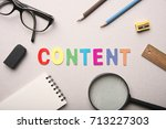 Content Marketing Word With...